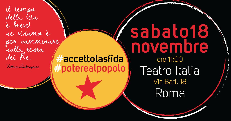 Assemblea lista popolare 18 novembre Roma | Potere al popolo