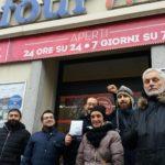 26D Pavia - Festivi al Lavoro no grazie Potere al Popolo
