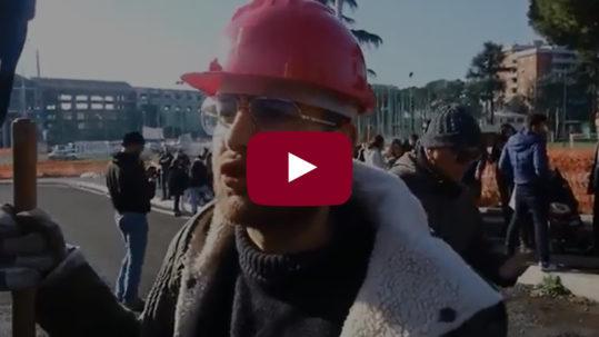 Roma - Intervista a Federico Giglio sulla'apertura della Tiburtina