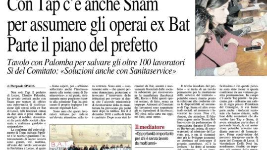 Lecce - solidarietà Ex Bat - Potere al popolo