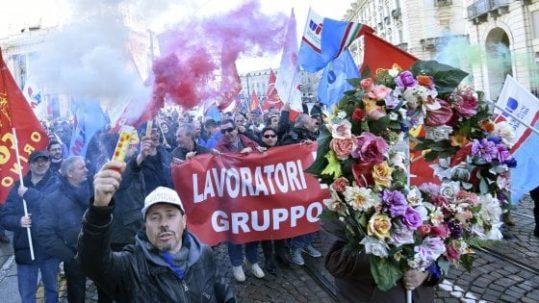 Torino presidio dei lavoratori Embraco