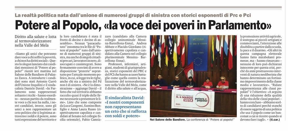 Presentazione dei candidati a Messina