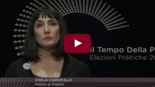 Lo spot di Potere al Popolo su La7 - Viola Carofalo