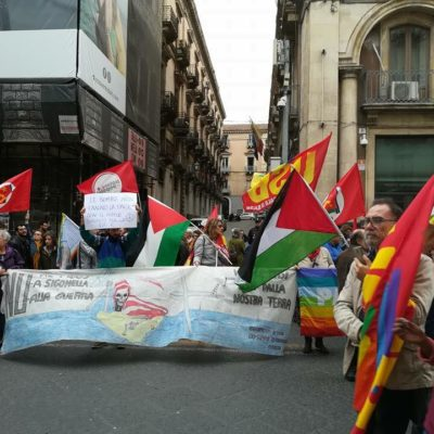 Catania no alla guerra potere al popolo